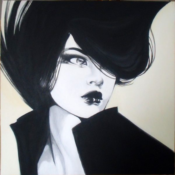 Lady blackandwhite